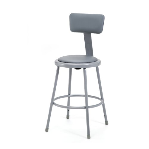 National Public Seating Stool with Adjustable Backrest