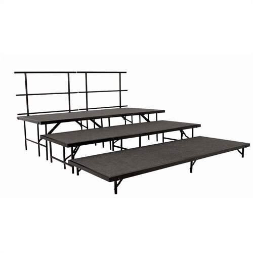 National Public Seating Portable Stage & Seated Riser Set in Hardboard