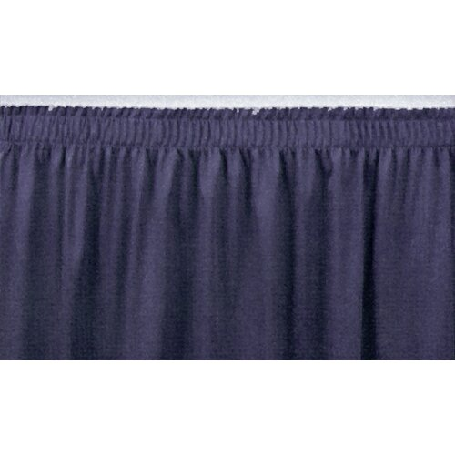 National Public Seating Shirred-Pleat Stage Skirting
