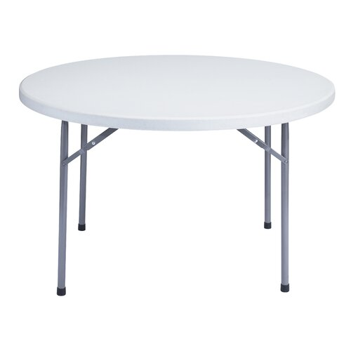 "National Public Seating Blow Molded 48"" Round Folding Table"