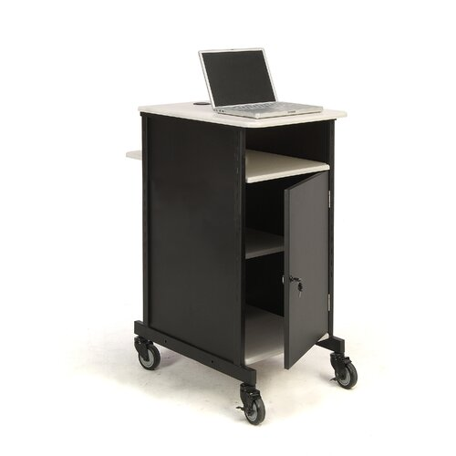 Oklahoma Sound Corporation Jumbo Presentation Cart Full Podium