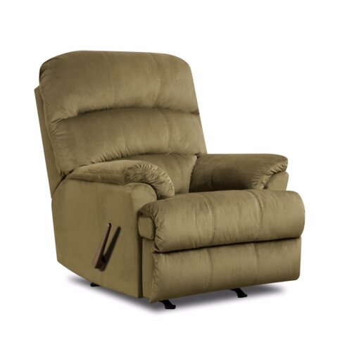 Wustrow Umber Italian Leather Power Reclining Sofa: Simmons Upholstery Hampton Rocker Recliner & Reviews
