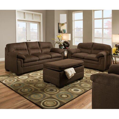 Simmons Luna Sofa Upholstery 3615 Casual Stationary