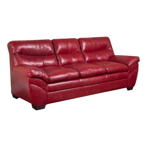 Simmons Upholstery Soho Faux Leather Sofa Reviews Wayfair