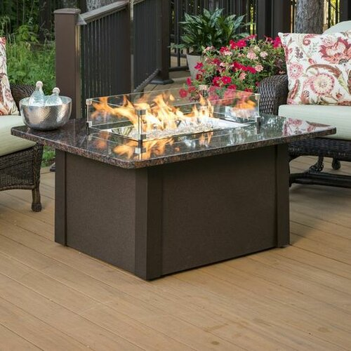Natural gas fire pit table wayfair for Great outdoor room company