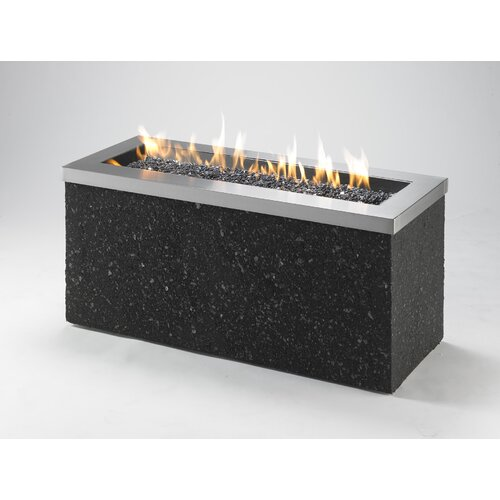 The Outdoor GreatRoom Company Key Largo Linear Burner Design with Fire Pit