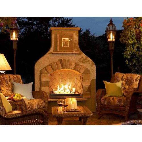 Sonoma surround gas fireplace wayfair for Great outdoor room company