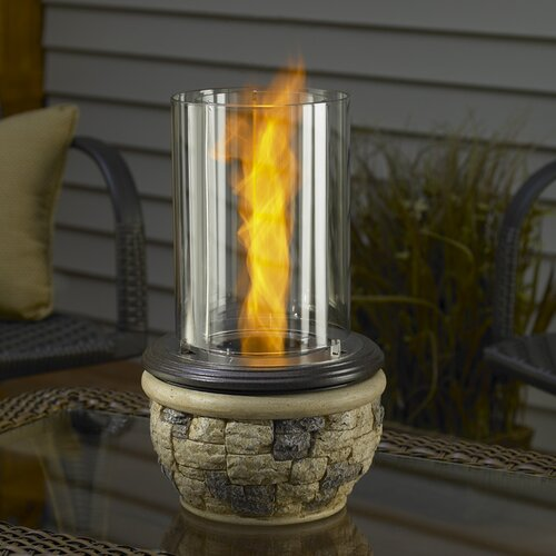 The Outdoor GreatRoom Company Ledgestone Tabletop Gel Fuel Fireplace