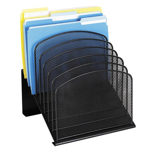 """Safco Products Company Mesh Desk Organizer, Eight Sections, 11.25"""" Wide"""