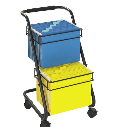 """Safco Products Company 28"""" Jazz Two-Tier File Cart"""