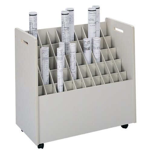 Safco Products Company Mobile Roll Files Filing Cart