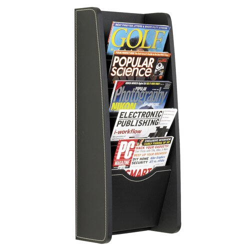 5 Pocket Leather Look Magazine Rack
