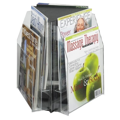Safco Products Company 6 Pocket Magazine Table Display