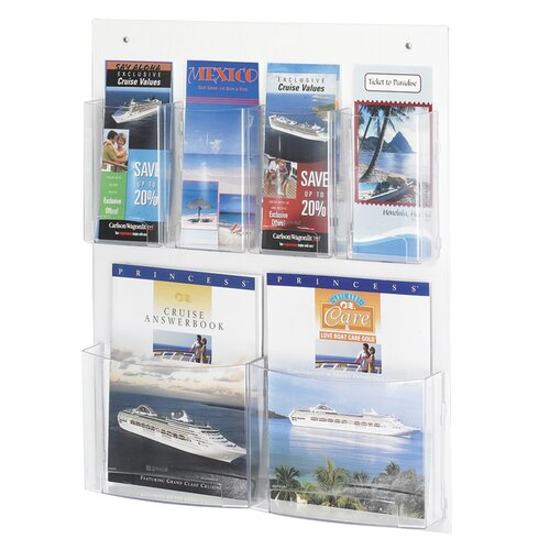 Safco Products Company 9 Pocket Magazine Rack