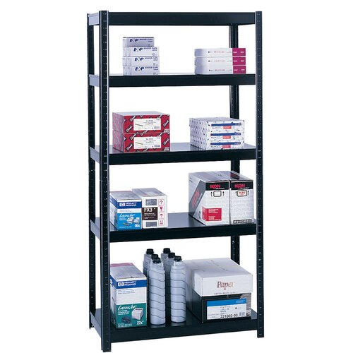 "Safco Products Company Boltless Steel 37"" H 5 Shelf Shelving Unit"
