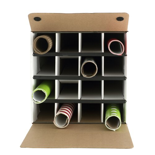 Safco Products Company Document and Gift Wrap Paper Roll Storage Organizer