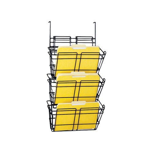 Safco Products Company Panelmate Triple File Basket Organizer