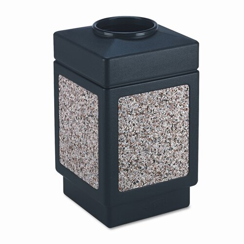 Safco Products Company Canmeleon Series Outdoor Aggregate Panel Open Top Receptacle