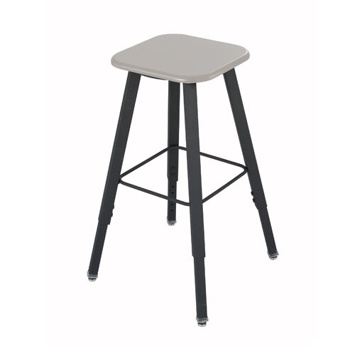 Height Adjustable Stool with Footrest