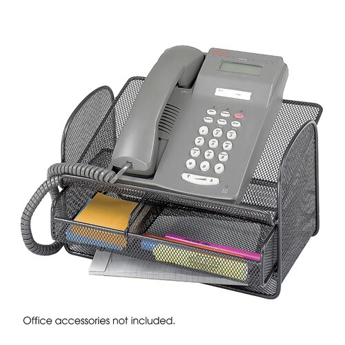 Safco Products Company Onyx Angled Mesh Steel Telephone Stand
