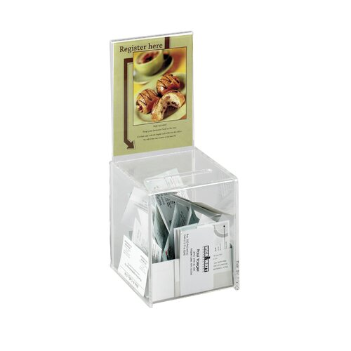 Safco Products Company Collection Box with Graphics Display