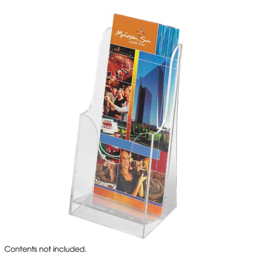 Safco Products Company Acrylic Single Pocket Pamphlet Display