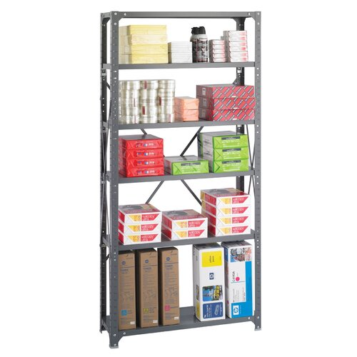 "Safco Products Company Commercial Steel 76"" H 6 Shelf Shelving Unit"