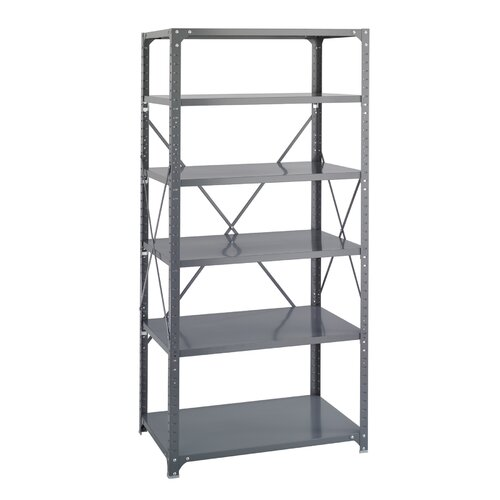 """Safco Products Company Commercial 75"""" H 6 Shelf Shelving Unit Starter"""