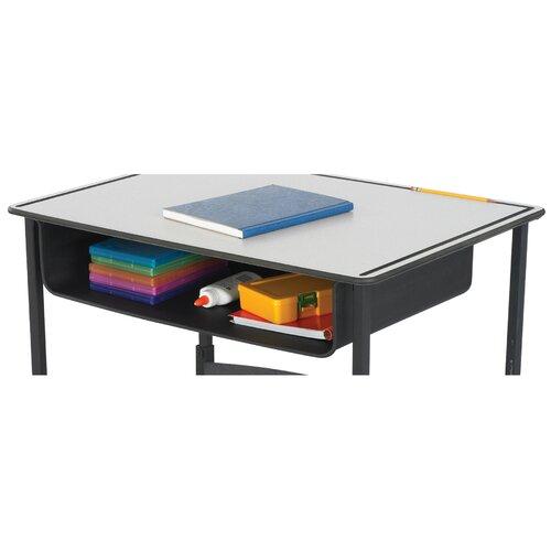 """Safco Products Company 4.75"""" H x 22"""" W Desk Book Box"""