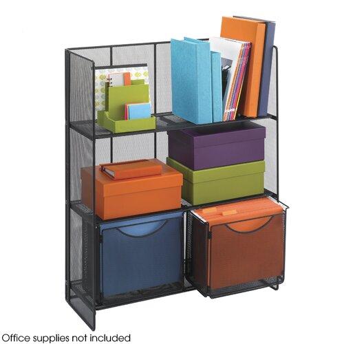 "Safco Products Company Onyx Fold-Up 34.25"" H 3 Shelf Shelving Unit"