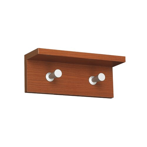 Safco Products Company Contempo Wood 2 Hook Coat Rack