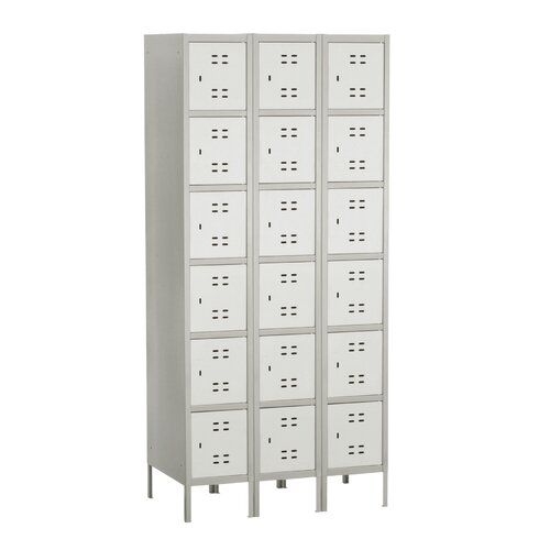 Safco Products Company 6 Tier 3 Wide Box Locker