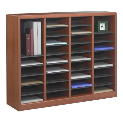 "Safco Products Company E-Z Store Wood 32 1/2"" Literature Organizer"