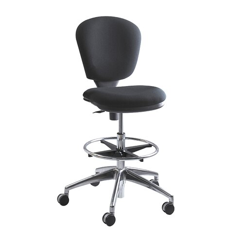 Safco Products Company Height Adjustable Drafting Chair with Swivel