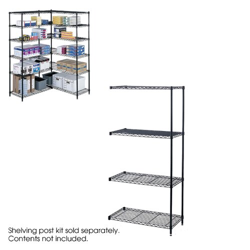 "Safco Products Company Industrial Wire Add-On Unit (36"" x 18"" Shelves)"