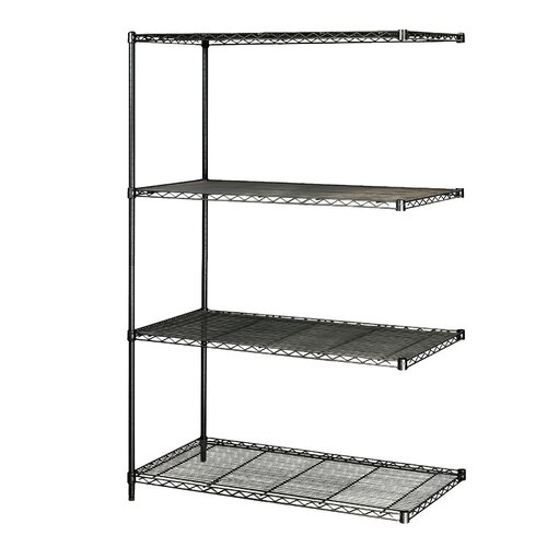 """Safco Products Company Industrial Wire Add-On Unit (48"""" x 24"""" Shelves)"""