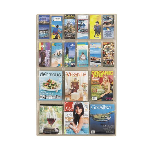 Safco Products Company Reveal Clear Literature Displays, 18 Compartments