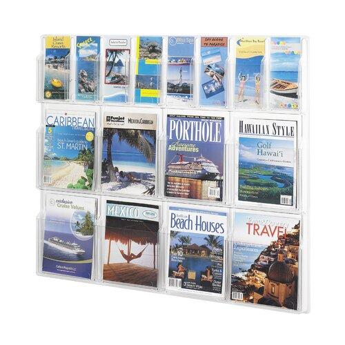 Safco Products Company 16 Pocket Magazine Rack