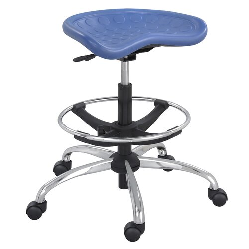 Safco Products Company SitStar Stool with Footring and Casters