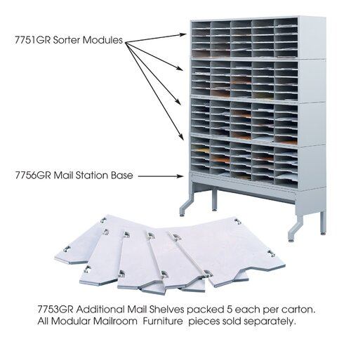 Safco Products Company Five Additional Mail Shelves