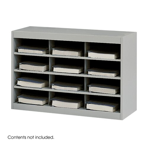 Safco Products Company Steel Project Center Organizer, 12 Pockets