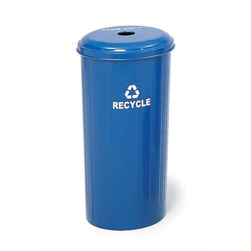 Safco Products Company Tall Round 20 Gallon Industrial Recycling Bin