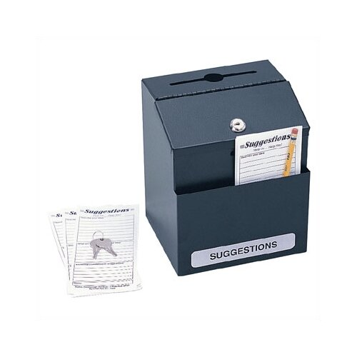 Safco Products Company Steel Suggestion/Key Drop Box with Locking Top