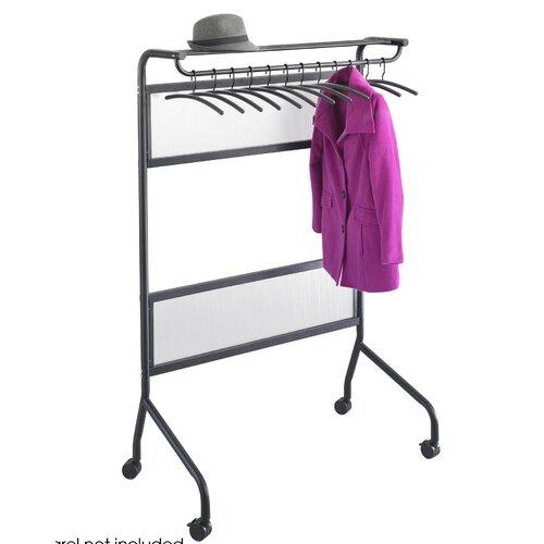 "Safco Products Company Impromptu 29.75"" H x 40.25"" W x 58.75"" D Garment Rack"