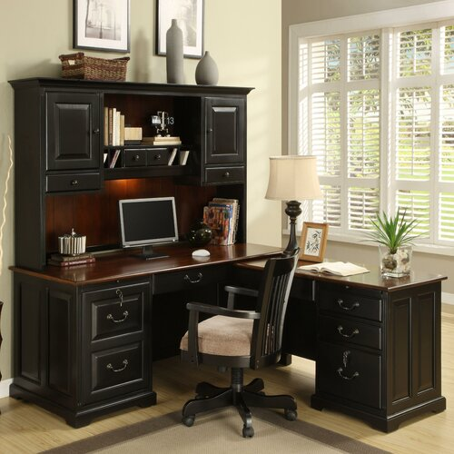 Riverside Furniture Bridgeport L-Shape Desk Office Suite