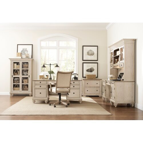 Riverside Furniture Coventry Two Tone 6-Piece Standard Desk Office Suite