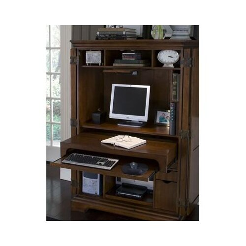 New Riverside Furniture Bridgeport Antique Black Computer Armoire  EBay