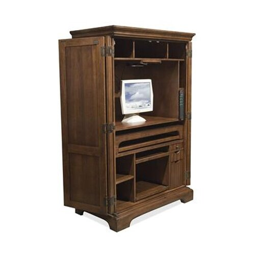 Wonderful Riverside Furniture Seville Square Computer Armoire In Warm Oak
