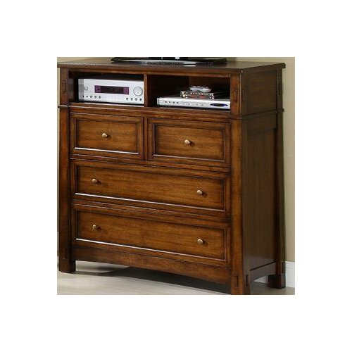 Riverside Furniture Craftsman Home 4 Drawer Media Chest