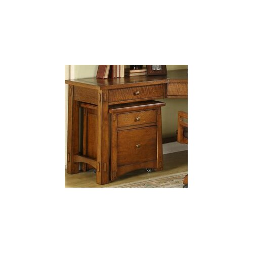 Riverside Furniture Craftsman Home 2-Drawer Mobile File Cabinet